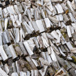Folded rows of firewood, close-up — Stock Photo
