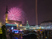 New year's fireworks in Tallinn — Stock Photo