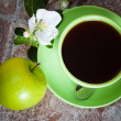 Cup of tea with an apple — Stock Photo #38759507