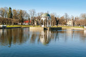 Pond in park Kadriorg, Tallinn — Stockfoto