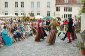 TALLINN, ESTONIA - JULY 8: Celebrating of Days the Middle Ages — Stock Photo
