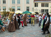TALLINN, ESTONIA - JULY 8: Celebrating of Days the Middle Ages — Stock Photo