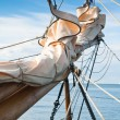Bowsprit of the wooden sailing ship close up — Stock Photo #39268255