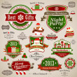 vintage Christmas-set — Stockvector  #13948347