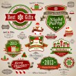 Christmas vintage set - Stock Vector