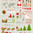 Christmas Infographic set  — Vettoriali Stock