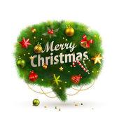 Burbuja de navidad para discurso - abeto — Vector de stock