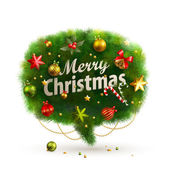 Christmas Bubble for speech - fir tree — Stockvector