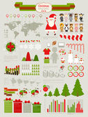 Christmas Infographic set — Stock Vector