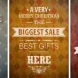 Royalty-Free Stock Imagen vectorial: Christmas vintage set