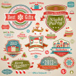 Christmas vintage set — Stock Vector #15054203
