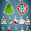 Set of Christmas stickers. — Stock Vector #15054695