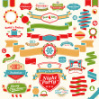 Christmas set - colorful ribbons — Vector de stock  #15057149