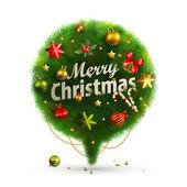 音声のためのクリスマスのバブル — ストックベクタ