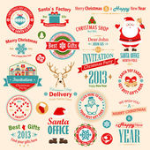 Christmas set — Vector de stock