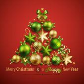 テキストのための場所のクリスマス カード — ストックベクタ