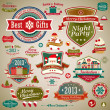 Christmas vintage set — Stock Vector #15893947