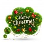 Christmas Bubble for speech — Stock Vector