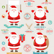 Stock Vector: Christmas set - Santa Claus