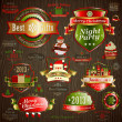 Christmas vintage set — Stock Vector #16366953