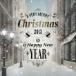 Christmas greeting card — Vector de stock #16367115