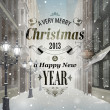 Christmas greeting card — Wektor stockowy #16367115