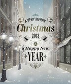 Christmas greeting card — Wektor stockowy