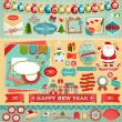 Royalty-Free Stock Obraz wektorowy: Christmas Scrapbook set