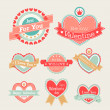 Stock Vector: Valentines Day set