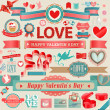 Valentines Day set — Vector de stock #19003675