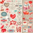 Valentines Day set — Vector de stock  #19003783