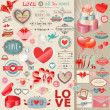 Valentines Day set - Stockvectorbeeld