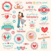 Valentinky den sada — Stock vektor