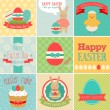 Easter scrapbook set - labels — Stockvektor
