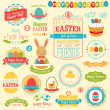 Easter scrapbook set - labels - Imagen vectorial