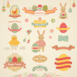 Ostern-Scrapbook-Set - Etiketten — Stockvektor