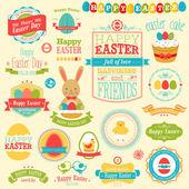 Easter scrapbook set - labels — Stock Vector