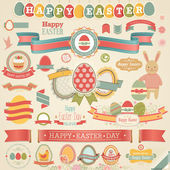 Easter scrapbook set - labels — Cтоковый вектор