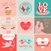 Valentines Day set. — Stock Vector