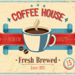 Vintage Coffee House card. — Vector de stock