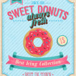 Royalty-Free Stock Vector Image: Vintage Donuts Poster.