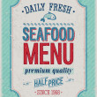 Vintage SeaFood Poster. - Stock Vector