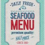 affiche vintage de fruits de mer — Vecteur