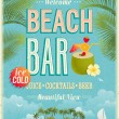 Vintage Beach Bar poster. — Vector de stock