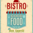 Vintage Bistro Poster. — Wektor stockowy  #24114615