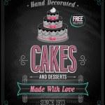 Cakes Poster - Chalkboard. — Stock Vector #24114807