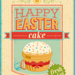 Vintage Easter card. — Stock Vector