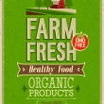 Vintage Farm Fresh Poster. — Stock Vector