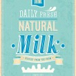 Vintage Milk card. — Vector de stock