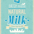 Vintage Milk card. — Stockvector